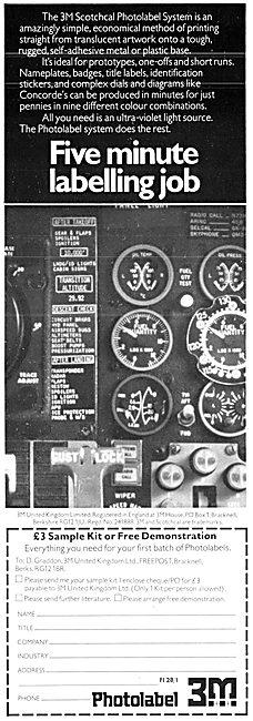 3M Scotchcal Photolabel System 1978