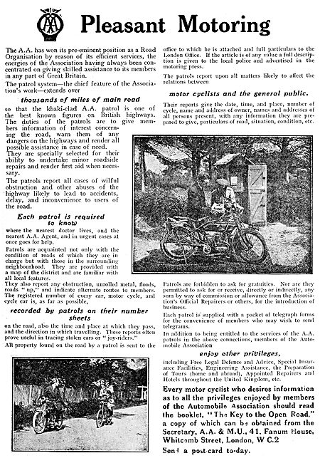 The Automobile Association. The A.A. & MU 1919