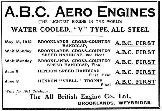 ABC Aero-Engines 1912
