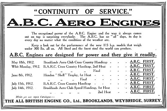 Continuity Of Service With ABC Aero Engines.