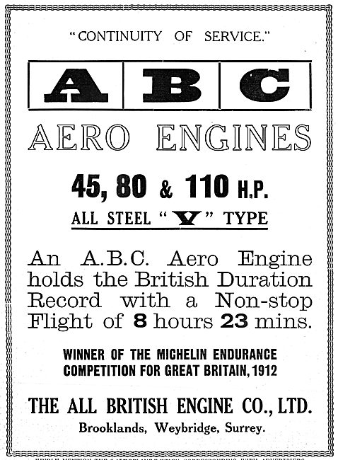 ABC Aero Engines 1913 - All British Engine Company