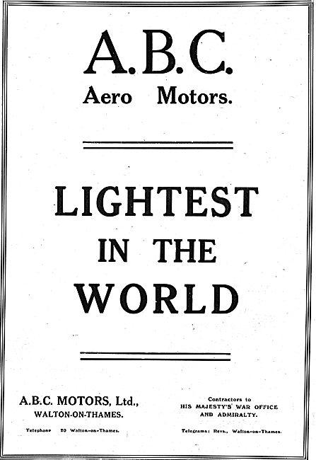 ABC Aero Motors - Lightest In The World
