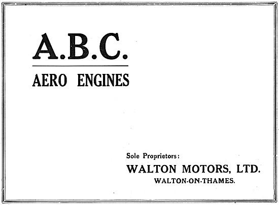 ABC  Aero Engines 1918 - Walton Motors