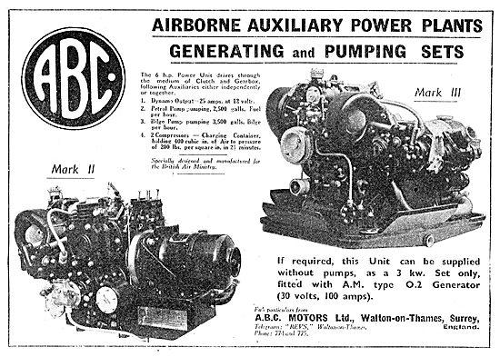 ABC MkII & Mk III Airborne Auxiliary Power Plants. APU
