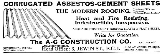 The A-C Construction Co. Corrugated Asbestos-Cement Sheets