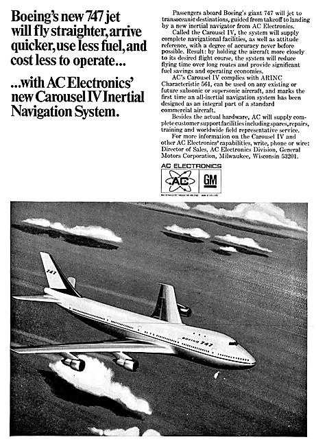AC Electronics Avionics. Carousel IV Inertail Navigation. INS
