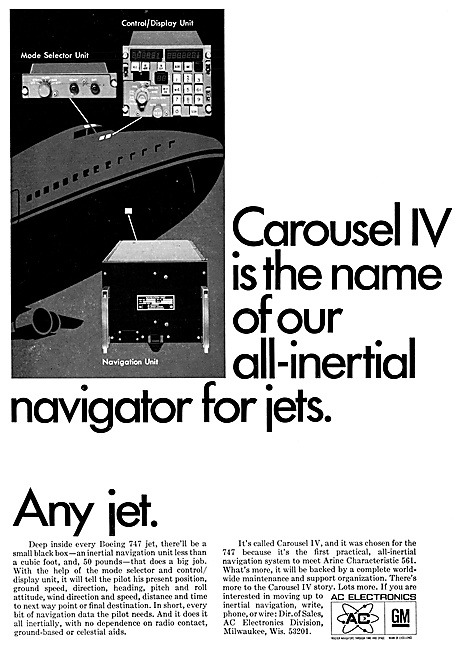 AC Electronics Avionics Carousel IV Inertial Navigation System