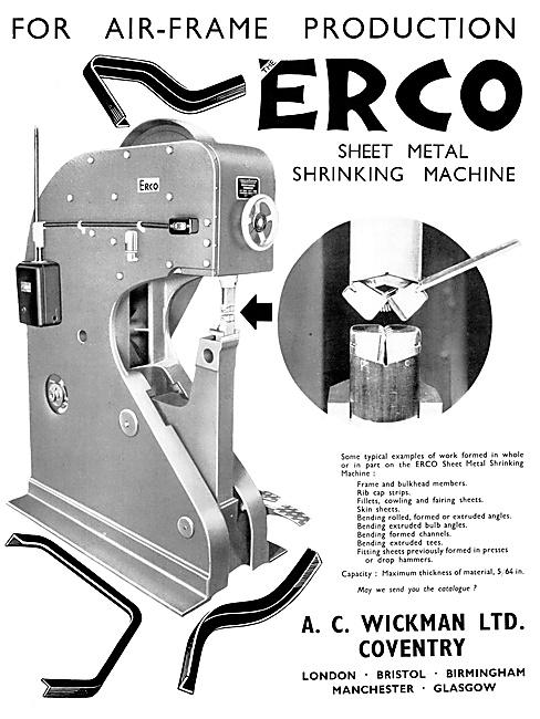 A.C.Wickman ERCO Sheet Metal Shrinking Machine