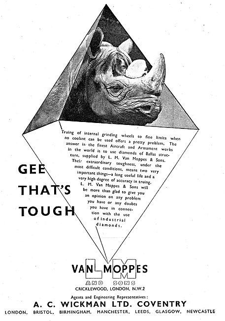 A.C. Wickman Wimet Machine Tools & Tool Tips. Van Moppes
