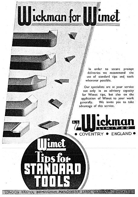 A.C. Wickman Wimet Machine Tool Tips