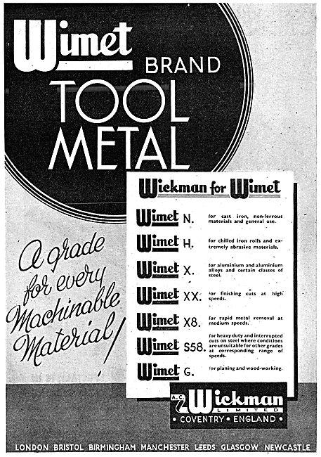 A.C. Wickman Wimet Tool Metal