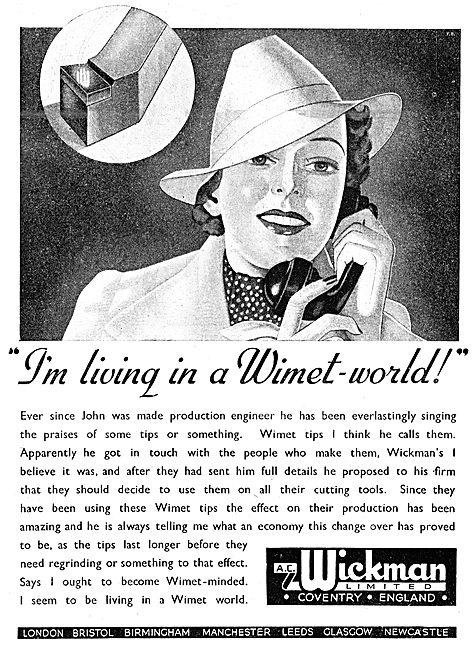 A.C. Wickman Wimet Machine Tool Tips 1943