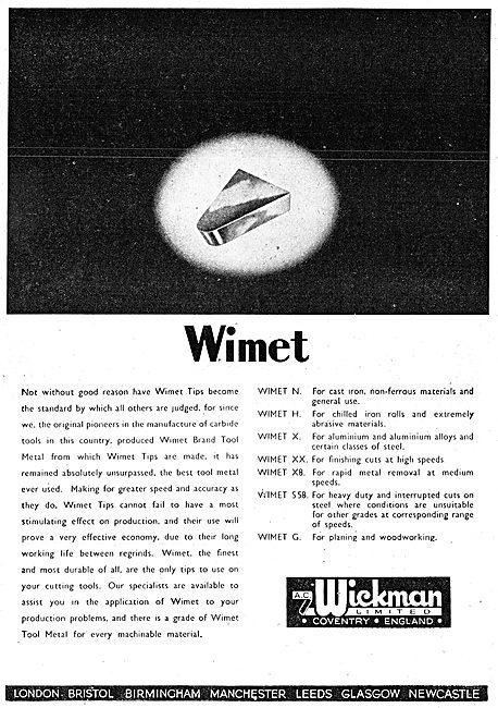 A.C. Wickman Wimet Machine Tools & Tool Tips