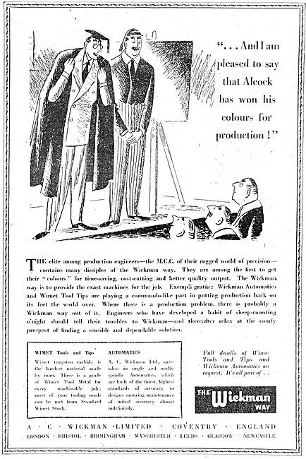 A.C.Wickman Machine Tools - Wimet Machine Tools