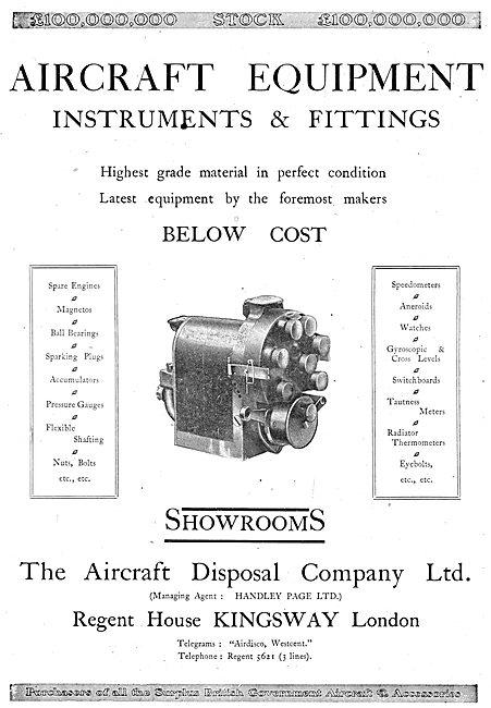 ADC Aircraft - Airdisco - Aircraft Disposal Company. Instruments