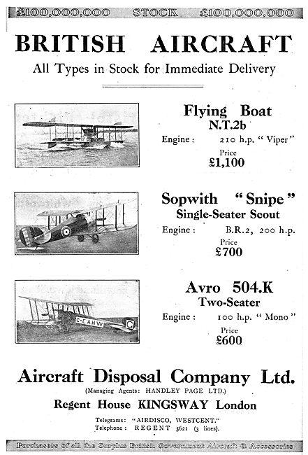 Aircraft Disposal Company - Surplus British Military Aircraft