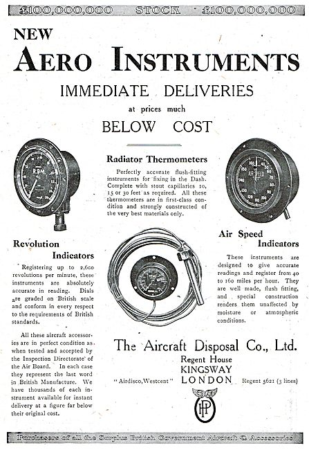 ADC Aircraft - Airdisco - Aero Instruments At Prices Below Cost