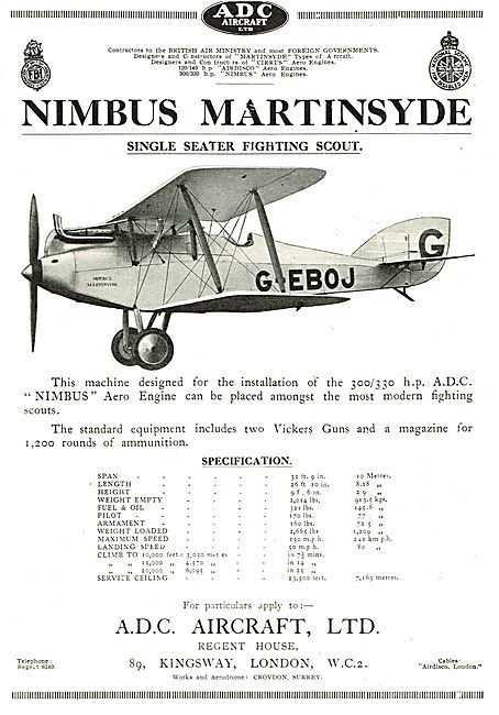 ADC Aircraft  - Nimbus Martinsyde G-EBOJ