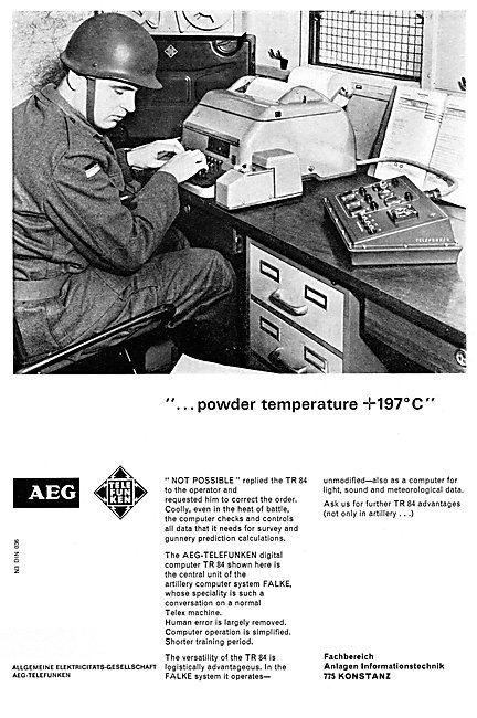 AEG-Telefunken Radar Equipment - AEG TR 84 Computer