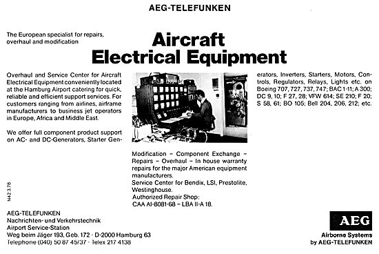AEG-Telefunken Electronic & Radar Equipment