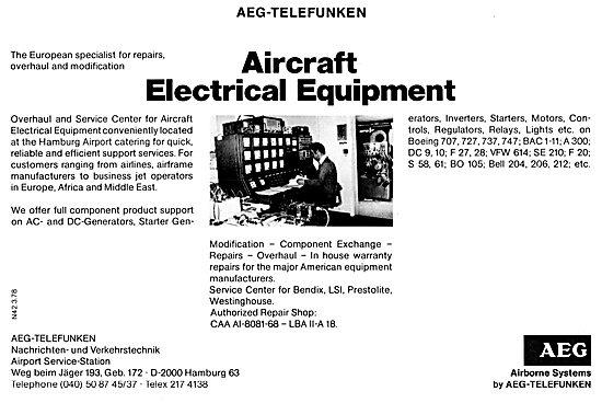 AEG-Telefunken Electronic & Radar Equipment