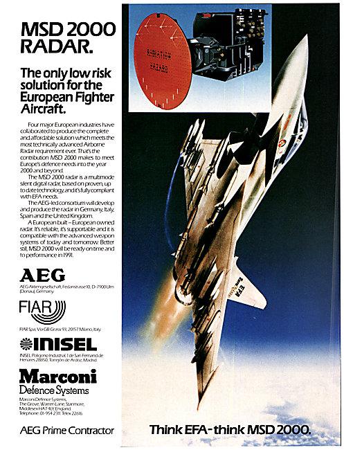 AEG FIAR INISEL Marconi EFA Airborne Defence Radar