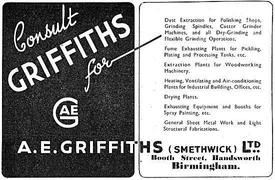 A.E.Griffiths Factory Ventilation Equipment & Sheet Metalwork