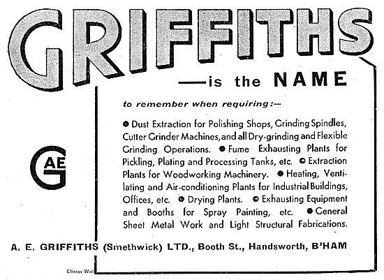 A.E.Griffiths Factory Equipment, Sheet Metalwork & Assemblies