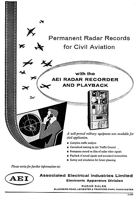 AEI Associated Electrical Industries Ground Radar Data Recorders