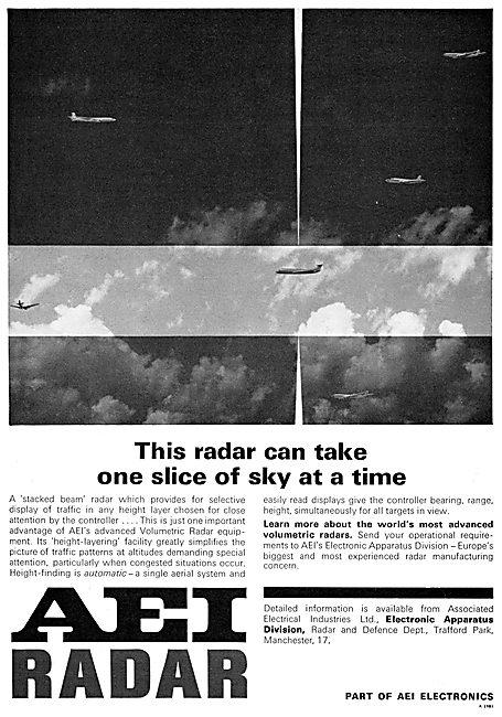 AEI. Associated Electrical Industries. Volumetric ATC Radar