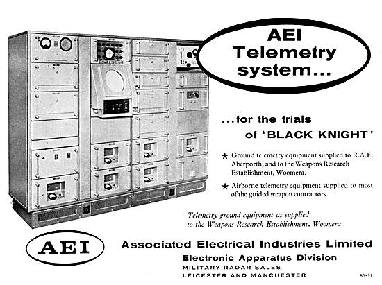 AEI Missile Telemetry Equipment 1959. Balck Knight