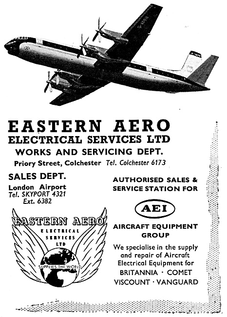AEI AEI Associated Electrical Industries. Eastern Aero Electrical
