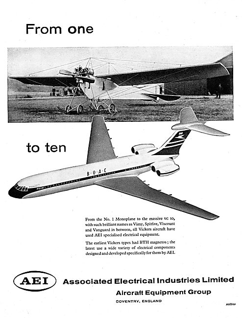 AEI. Associated Electrical Industries. Aircraft Electrics