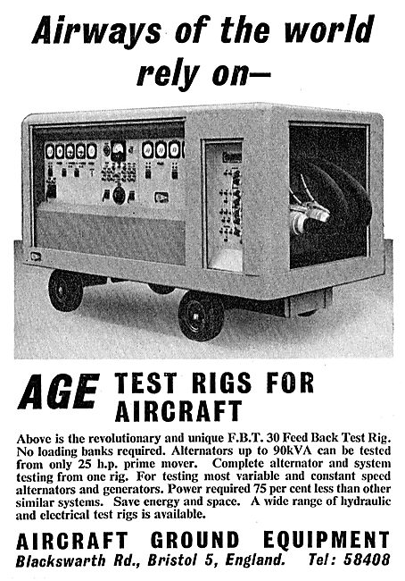 AGE Aircraft Electrical & Hydraulic System Test Rigs