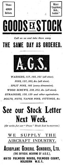 Aeroplane General Sundries Ltd -  AGS Parts
