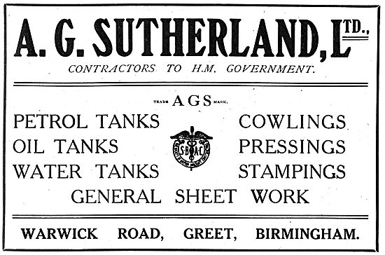 A.G.Sutherland Ltd - Aeronautical Parts & Sheet Metal Work