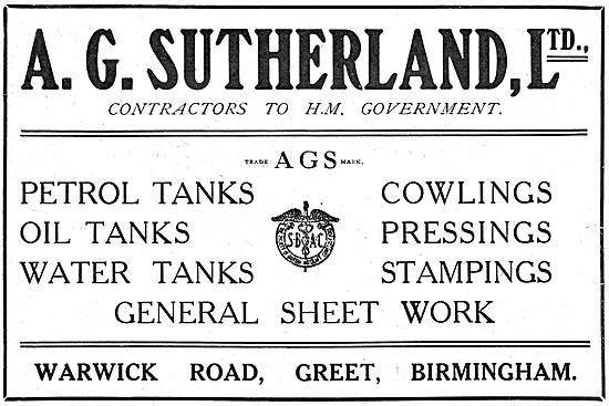 A.G.Sutherland Sheet Metal Work
