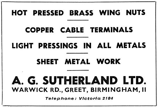 A.G.Sutherland Ltd - Aeronautical Parts & Sheet Metal Work