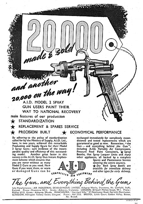 AID Compressed Air Equipment - Paint Spray Guns