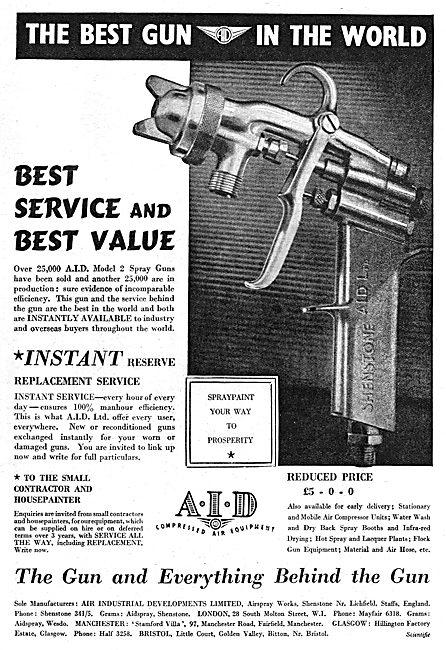 A.I.D. Compressed Air Equipment - Paint Spray Guns. 1950