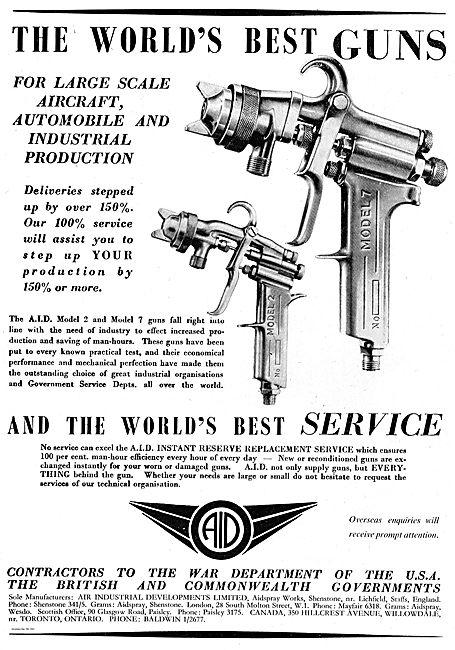 AID Industrial Paint Spray Guns For Aircraft