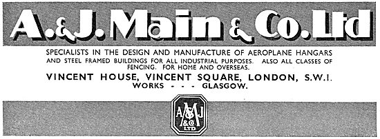 A. & J.Main Designers & Constructors Of Aeroplane Hangars