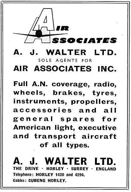 A.J.Walter - Air Associates Inc. Aircraft Spares & Accessories