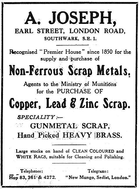 A.Joseph - Scrap Metals - Earl Street, London Road, Southwark