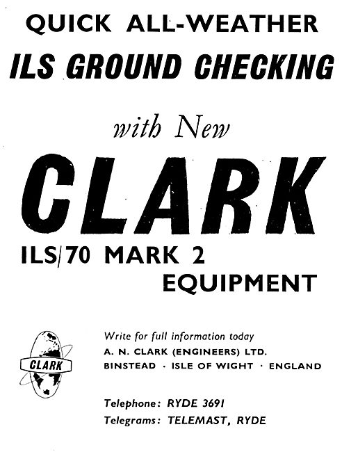 A.N.Clark. Ryde, IOW. ILS/70 Mark 2 Checking Equipment