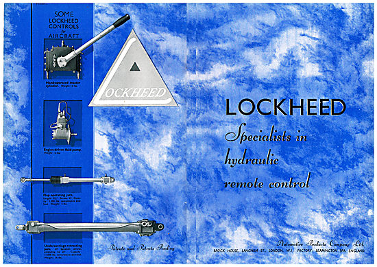 Lockheed Hydraulic Controls For Aircraft