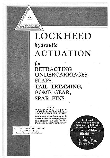 Lockheed Hydraulic Actuation