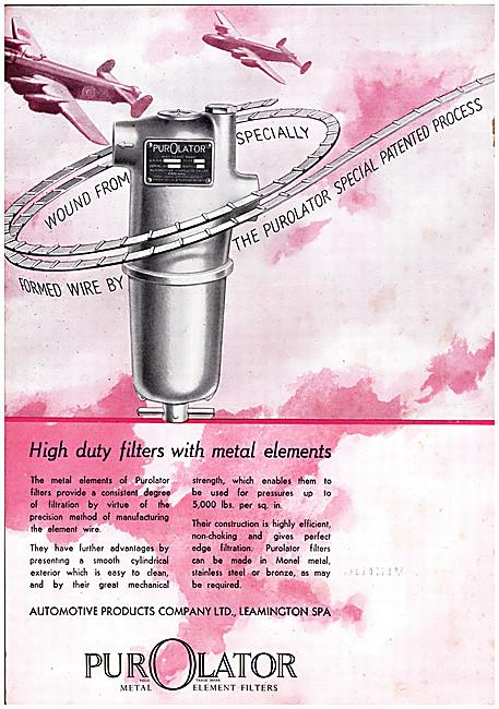 Automotive Products- Lockheed Hydraulic & Purolator Filters