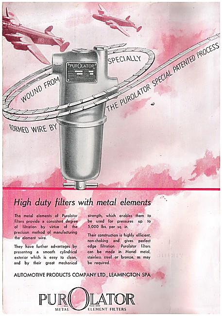 Automotive Products- Lockheed Purolator Metal Element Filters