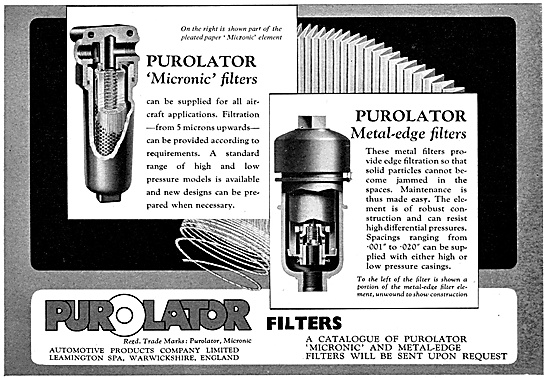 Automotive Products- Lockheed Hydraulics - Purolator Filters